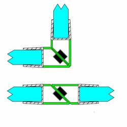 DUAL-M-9-2,5-8MM Mágneses profil 90-180° 8 mm-es üveghez, 2,5 méteres
