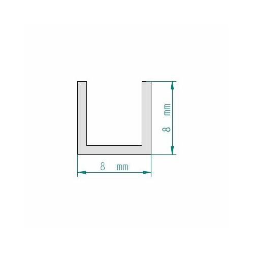 aluminium u profil feh r 8x8 mm. Black Bedroom Furniture Sets. Home Design Ideas
