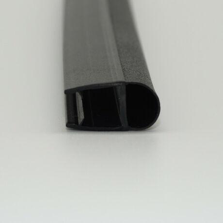 MATT FEKETE D profil 8 mm-es üveghez