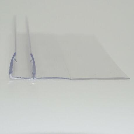 h-profil 90°, 15+25 mm szoknyával 8 mm-es üveghez