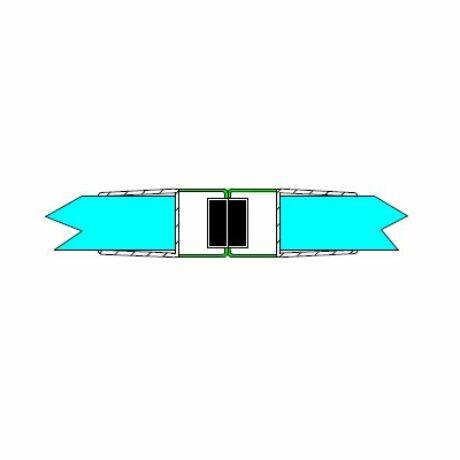 DUAL-M-24-8MM Mágneses profil tolóajtóhoz,8 mm-es üveghez, fehér