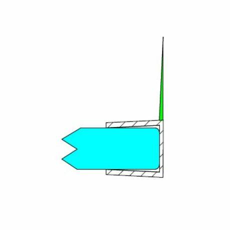 DUAL-P-14-8MM h-profil 90° 8 mm-es üveghez