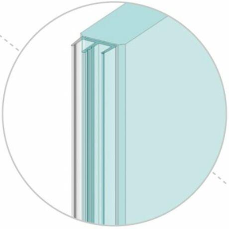Légzáró profil beltéri nyíló ajtóhoz