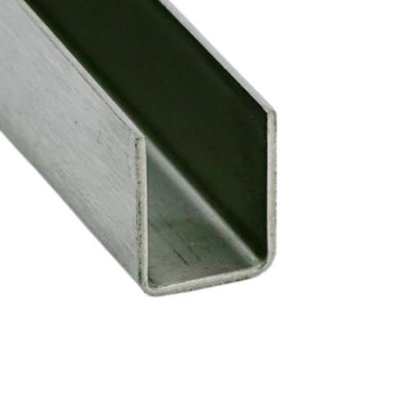 U profil SZÁLCSISZOLT, 14x10x14 mm (belső méret)