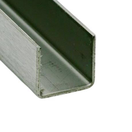 U profil SZÁLCSISZOLT, 14x14x14 mm (belső méret)