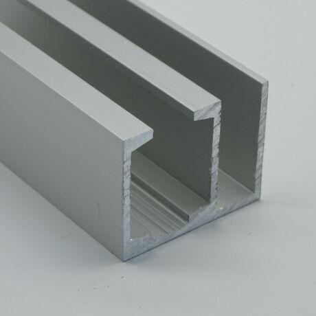 DUAL-TA-AL/DUPLA Fix üveg + tolóajtó sín, 3 m-es
